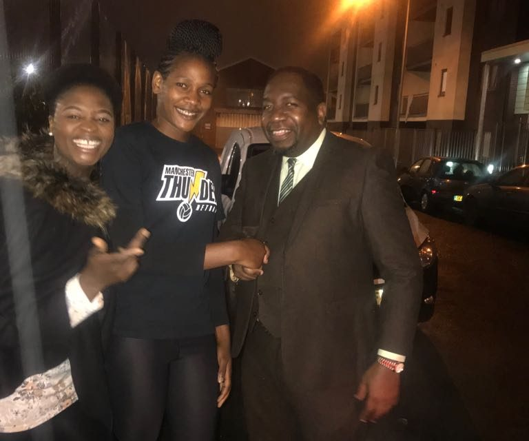 Star Netballer Joyce Mvula Back to Manchester