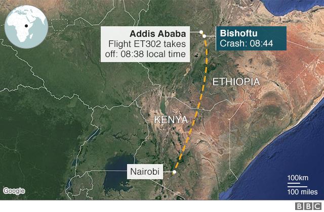 'No Survivors' in Ethiopian Airlines crash