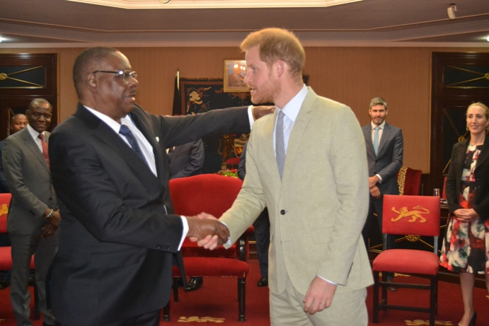 Malawi President Mutharika Hails Common Vision Shared With Prince Harry