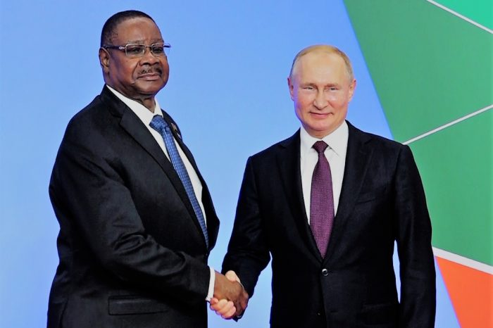 Malawi President Mutharika Meets Putin; Set to Address Russia-Africa Summit Thursday