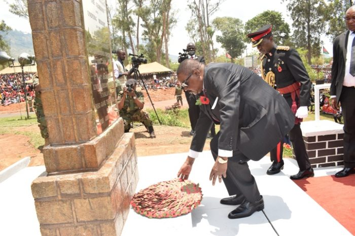 Mutharika  Pays Homage to Malawi World War Heroes