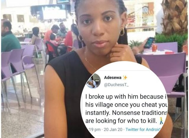"""I Broke Up With Him Because In His Village Once You Cheat You Die Instantly"""