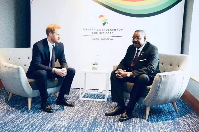 Britain's Prince Harry to Open a Hospital in Africa; Meets Malawi President Mutharika