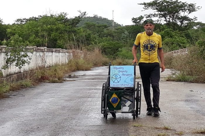 Brazilian Lion Walks Across Africa By Foot For Disabled