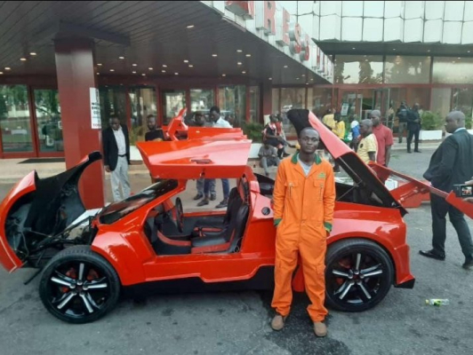Inventor, Nigerian aged 25 Releases First Nigerian Made Fiber Sports Car