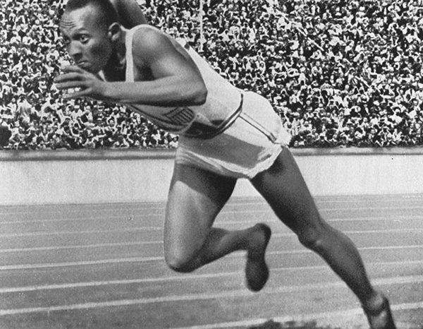 The first black athlete to compete in the Olympics
