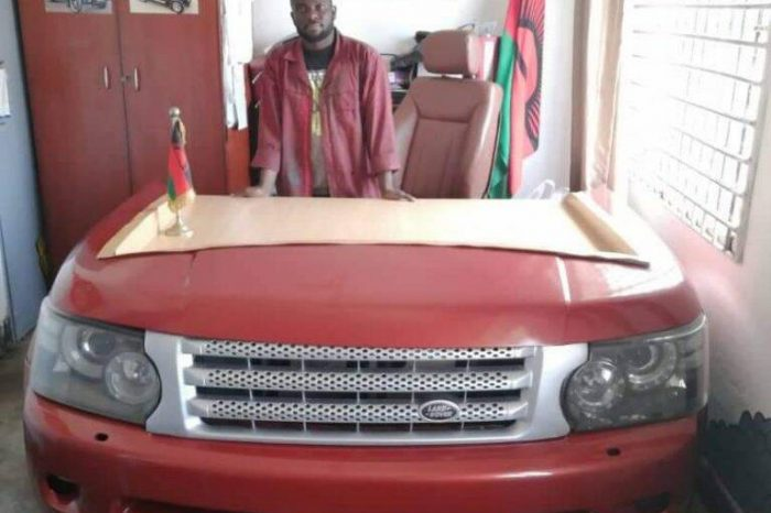 Malawian Innovator Rodgers Kaunda Turns Range Rover Into Office Desk