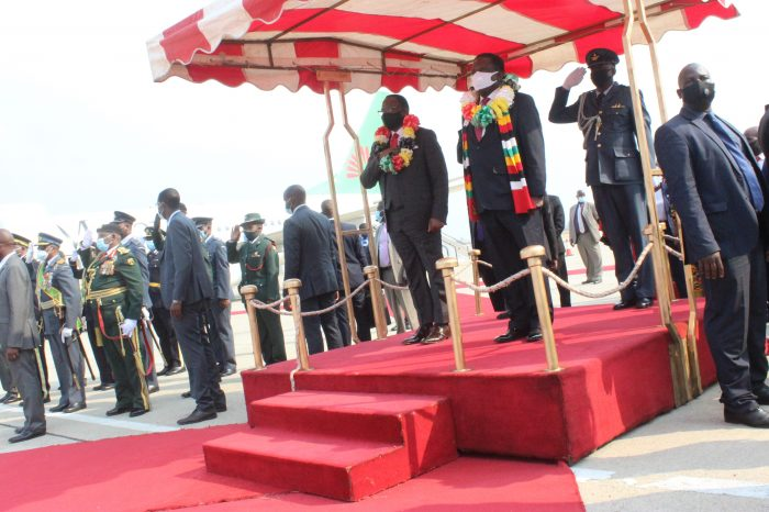 Malawi President Chakwera Arrives in Zimbabwe