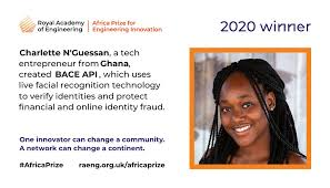 "RAEngGlobal on Twitter: ""The winner of the 2020 #AfricaPrize is... Charlette  N'Guessan of @bacehq! Her facial recognition technology for secure identity  verification makes her the first woman, and the first innovator from #"
