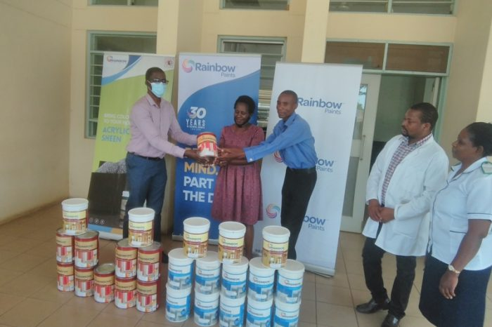 Rainbow Paints Offers 55% Paint Discount to District Hospital