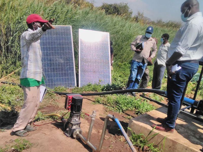 MALUWA (R) APPRECIATES TUKUSI SOLAR IRRIGATION SCHEME