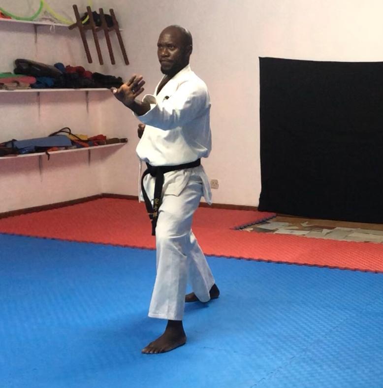 Kawerama-demonstrating his karate skill